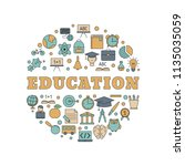 education design concept with... | Shutterstock .eps vector #1135035059