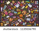 colorful vector hand drawn... | Shutterstock .eps vector #1135036790