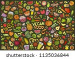 colorful vector hand drawn... | Shutterstock .eps vector #1135036844