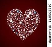valentines day card. sparkling... | Shutterstock .eps vector #1135039310
