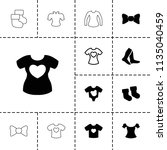 garment icon. collection of 13... | Shutterstock .eps vector #1135040459