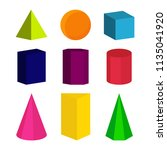 colour geometric shapes. vector ... | Shutterstock .eps vector #1135041920