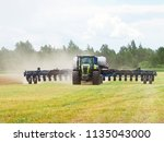 agricultural machinery in the... | Shutterstock . vector #1135043000