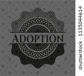 adoption black emblem. vintage. | Shutterstock .eps vector #1135044614