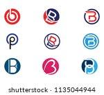 b letter with shield logo... | Shutterstock .eps vector #1135044944