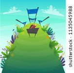 barbeque nature background...   Shutterstock .eps vector #1135045988