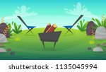 barbeque nature background...   Shutterstock .eps vector #1135045994