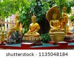 wat koh kaew in ayutthaya ... | Shutterstock . vector #1135048184