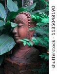 wat koh kaew in ayutthaya ... | Shutterstock . vector #1135048190
