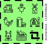 simple 9 icon set of farm... | Shutterstock .eps vector #1135048628