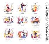 vector art hobby and handicraft ... | Shutterstock .eps vector #1135048913