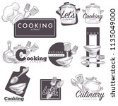 cooking culinary school logo... | Shutterstock .eps vector #1135049000
