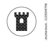 the tower of the castle logo... | Shutterstock .eps vector #1135049798