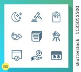 modern  simple vector icon set... | Shutterstock .eps vector #1135053500