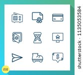 modern  simple vector icon set... | Shutterstock .eps vector #1135053584