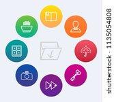 modern  simple vector icon set... | Shutterstock .eps vector #1135054808