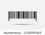 realistic barcode vector icon... | Shutterstock .eps vector #1135059263