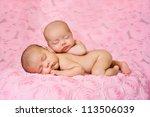 Fraternal Twin Newborn Baby...