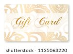 gift card  gift card discount   ... | Shutterstock .eps vector #1135063220