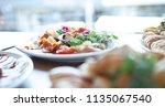 antipasti sharer platter | Shutterstock . vector #1135067540