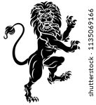 lion rampant standing on hind... | Shutterstock .eps vector #1135069166