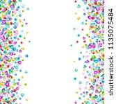 vector colorful gem stones... | Shutterstock .eps vector #1135075484
