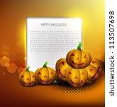 halloween pumpkins party card... | Shutterstock .eps vector #113507698
