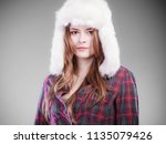 winter fashion. close up young... | Shutterstock . vector #1135079426