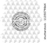 knight grey emblem with... | Shutterstock .eps vector #1135079864