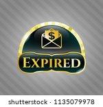 golden badge with envelope... | Shutterstock .eps vector #1135079978