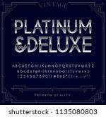 platinum  silver or chrome... | Shutterstock .eps vector #1135080803