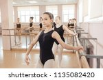 portrait of a young ballerina... | Shutterstock . vector #1135082420