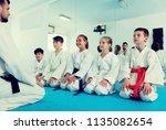 positive children enjoying... | Shutterstock . vector #1135082654