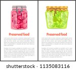 preserved food poster lime or... | Shutterstock .eps vector #1135083116