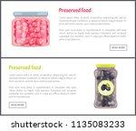 preserved food vegetables and... | Shutterstock .eps vector #1135083233