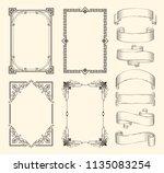frames and ribbons vector...   Shutterstock .eps vector #1135083254