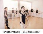 portrait of a young ballerina... | Shutterstock . vector #1135083380