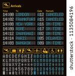 realistic led digital board... | Shutterstock .eps vector #1135084196