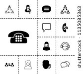 talk icon. collection of 13... | Shutterstock .eps vector #1135085363