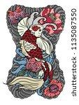 japanese tattoo design full... | Shutterstock .eps vector #1135087550