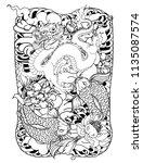 japanese tattoo design full... | Shutterstock .eps vector #1135087574