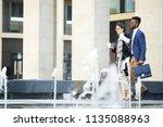 positive excited engineering...   Shutterstock . vector #1135088963