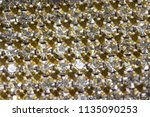 canvas of crystal rhinestones... | Shutterstock . vector #1135090253