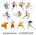 martial arts characters... | Shutterstock .eps vector #1135091639