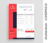 red business invoice template... | Shutterstock .eps vector #1135094213