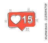 vector cartoon like  comment ... | Shutterstock .eps vector #1135094759