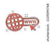 vector cartoon go to web icon... | Shutterstock .eps vector #1135094768