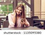 portrait of beautiful girl... | Shutterstock . vector #1135095380