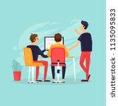 teamwork  start up  business... | Shutterstock .eps vector #1135095833