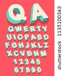 vector of vintage type alphabet ...   Shutterstock . vector #1135100363
